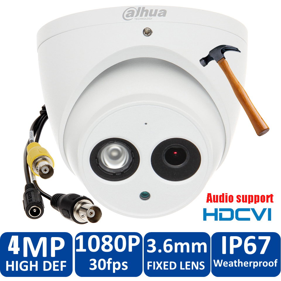 Original Dahua 4MP HDCVI Camera DH-HAC-HDW2401EMP HDCVI IR Dome audio Security Camera CCTV IR distance 50m HAC-HDW2401EMP original dahua 4mp hdcvi camera dh hac hdw1400emp hdcvi ir dome security camera cctv ir distance 50m hac hdw1400em cvi camera