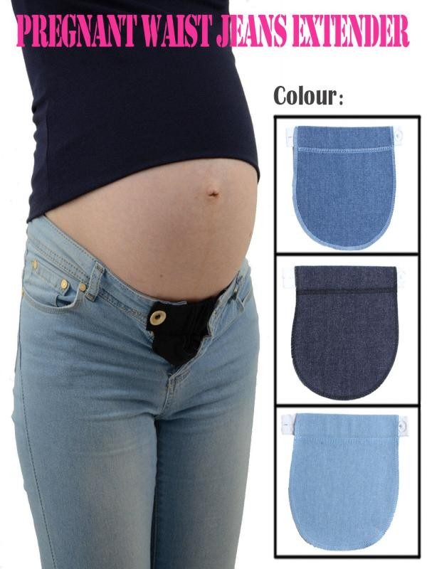 Clothing-Pants Pregnancy-Waistband-Belt Pregnant-Accessories Maternity Extender Elastic-Waist title=