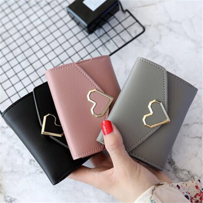 2017 New Designs Fashionable Luxury Women's Wallets Wallets Women's Wallets Perse Portomonee Portfolio Ladies Short Carteras Lov