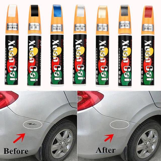 Cores Casaco Auto Carro Caneta de Tinta Retocar Raspe Limpar Removedor Remover A Ferramenta de Reparo # LD