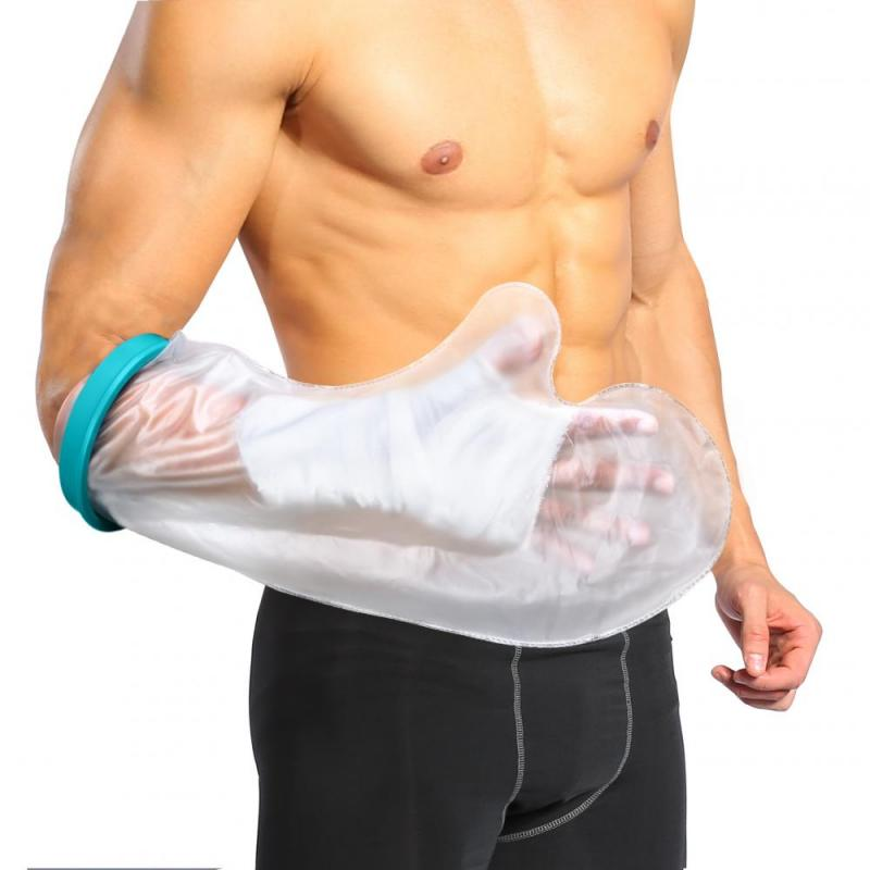 Waterproof Cast Bandage Protector Wound Fracture Hand Arm Cover Sealed Cast for Shower Bath Adult Short Arm Hand Finger Protect