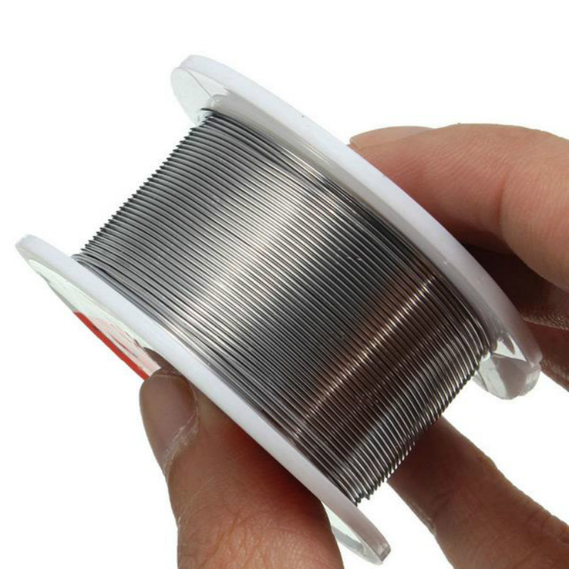 Image 2 - NEW 100g 0.6/0.8/1/1.2 63/37 FLUX 2.0% 45FT Tin Lead Tin Wire Melt Rosin Core Solder Soldering Wire Roll No clean-in Welding Wires from Tools