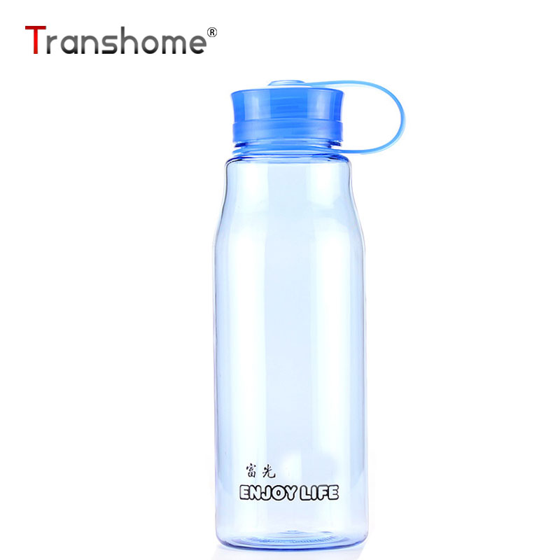 Transhome Plastic Bottle for Water 500ml Blue Unbreakable Leak-proof Bottles for Outdoor ...