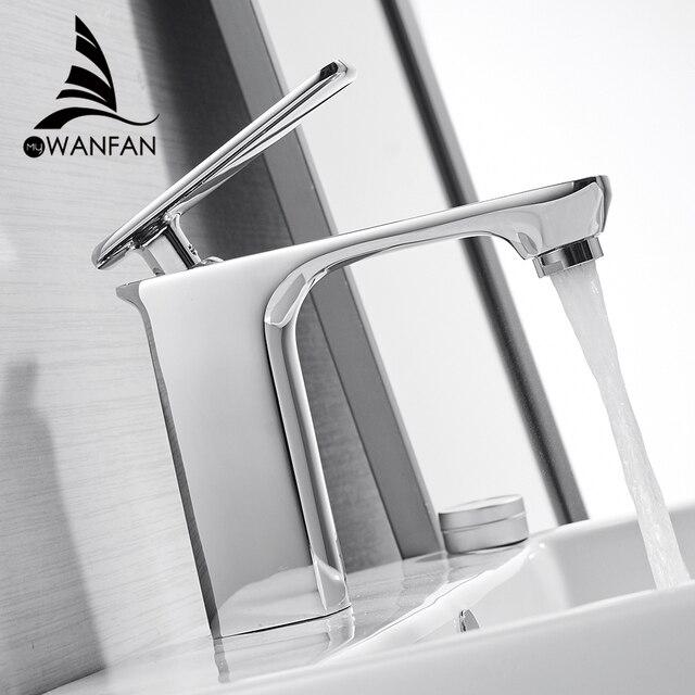 Robinet de lavabo salle de bains évier robinet Chrome robinets bassin robinet mitigeur monocommande trou pont lavage chaud froid mélangeur robinet grue 9920L
