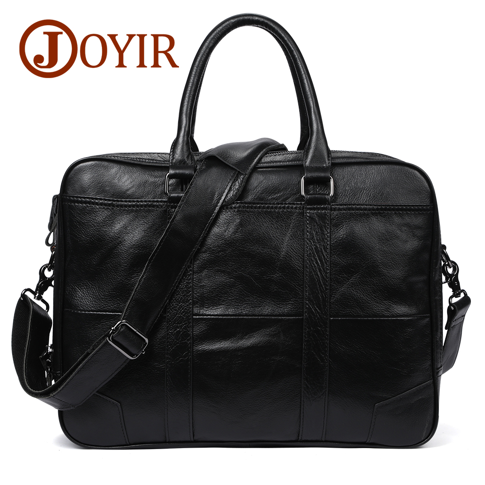JOYIR Genuine Leather bag Business Men bags Laptop Tote Briefcases Crossbody bags Shoulder Handbag Leather Men's Messenger Bag