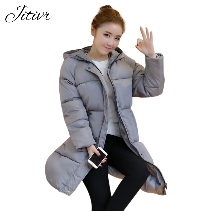 2017 Jitivr Hot Sale Women s Newest Thick Waterproof Coat In Winter Female Fashion Clothing With