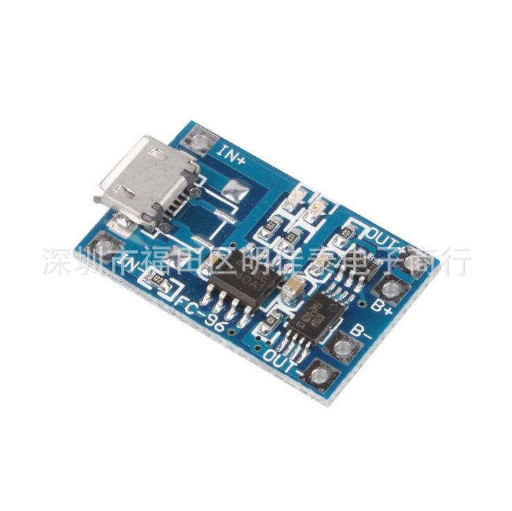 5PCS Micro USB 5V 1A 18650 TP4056 Lithium Battery Charger Board With Protection Module 5v 1a lithium battery charging board charger module li ion led charging board