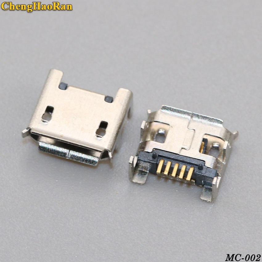Package: 200pcs 20-1000pcs New model Heightened Tablet PC PAD Charge port Socket Mini Micro USB Jack Connector DIP feet 2pin 2P female plug Mike Davitu Electrical Equipments Supplies