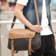 New 2017 men bags shoulder bag Fashionable canvas bag Men messenger bag