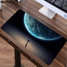 MaiYaCa 80x40cm Large Beautiful Romantic Starry sky Mouse Pad Ultra Soft Natural Rubber Game Gamer gaming Mousepad keyboard mat(China)