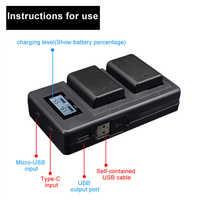 Camer Batterie Ladegerät Dual Ports LCD Display NP-FW50 Batterie Smart Ladegerät Stehen Cradle für Sony Alpha A6000 A6300 A6500 A7r a7