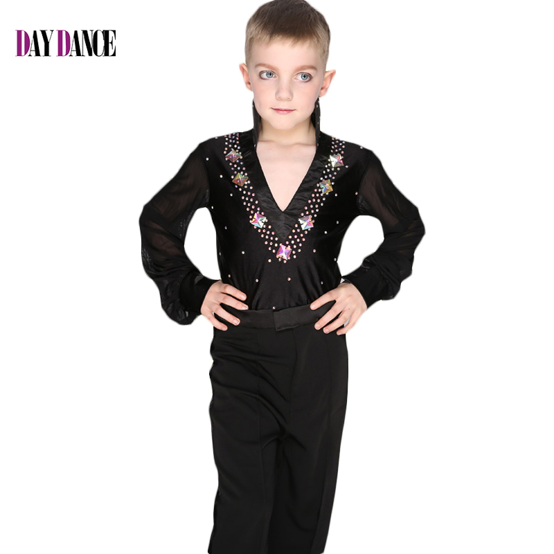 305279f14a60 Professional Boys Ballroom Shirt Mesh Sleeve Black Blue White Latin  Dancewear -in Latin from Novelty & Special Use on Aliexpress.com | Alibaba  Group