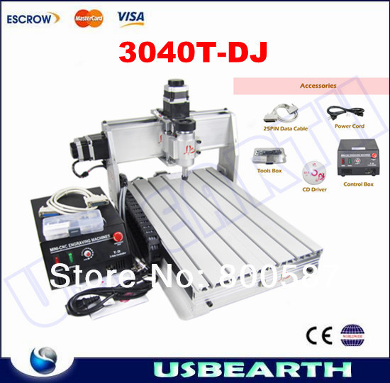 230W Engraver CNC 3040 T-DJ Mini Engraving Machine Drilling & Milling Carving Router For PCB/Wood & Other eru free tax cnc router mini engraving machine diy cnc 3040 4axis wood router pcb drilling and milling machine