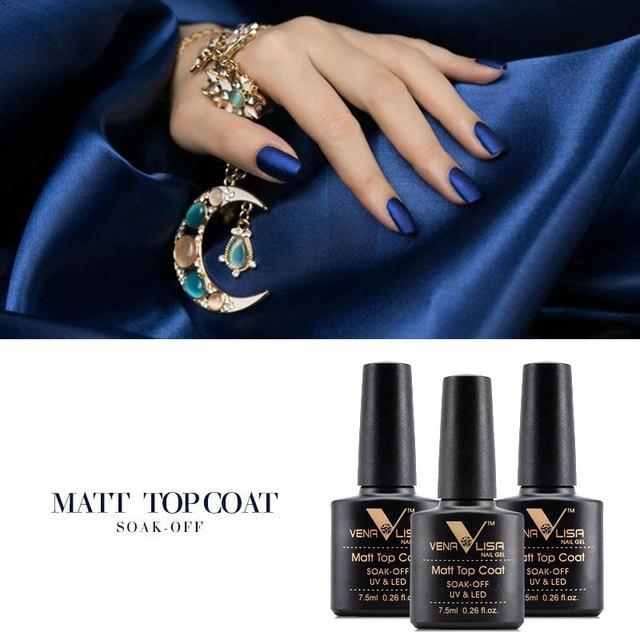 VENALISA Matte Top Coat CANNI Nail Art Design High Quality UV LED Base Coat No Sticky Layer Top Coat, Soak off Matt Topcoat 2