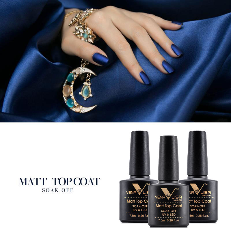 VENALISA Matte Top Coat CANNI Nail Art Design High Quality UV LED ...