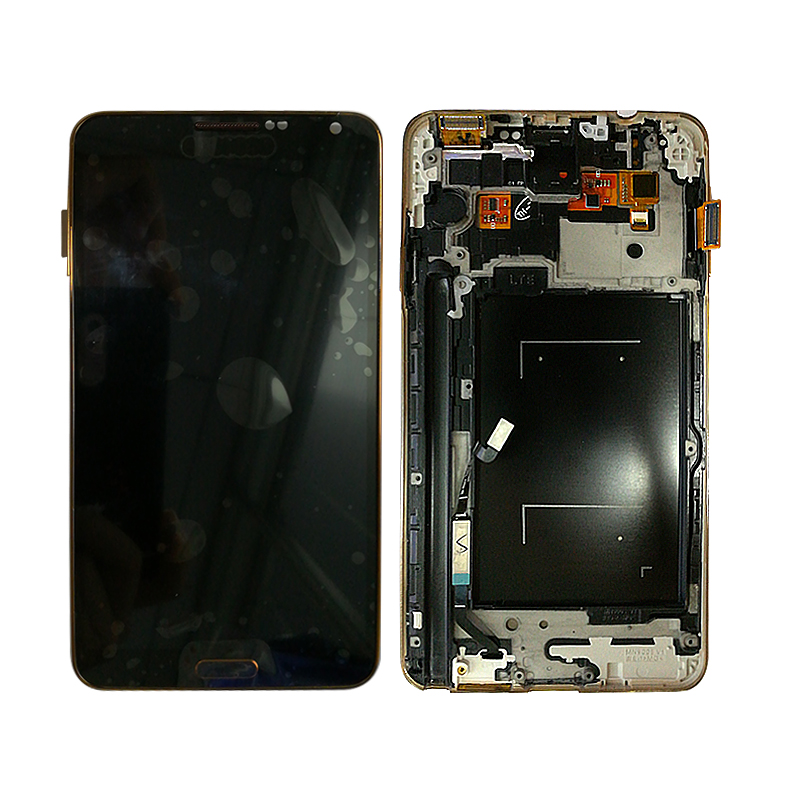 SZHAIYU 5.7 Adjust Brightness For Samsung Galaxy Note 3 N9005  LCD Display Touch Screen Digitizer with Gold FrameSZHAIYU 5.7 Adjust Brightness For Samsung Galaxy Note 3 N9005  LCD Display Touch Screen Digitizer with Gold Frame