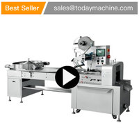 High Speed Bulk Product Wrapping Machine Horizontal Flow Pillow Packaging Candy Wrapper