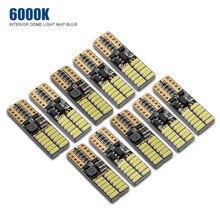 10 шт авто светодиодные лампочки Canbus T10 4014 чип супер белый 9-30 V 24SMD светодиодные лампы для чтения