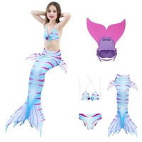Kids Girls Bikini Mermaid Tail Costume Swimmable Monofin flippers for Children Swimwear Beach Photo Booth Props Hot Sales