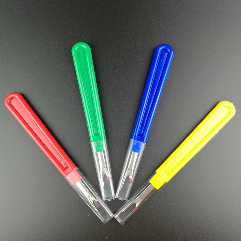 1 قطعة البلاستيك الخياطة الموضوع مقبض التماس الممزق القاطع غرزة Unpicker خيط قطني للتطريز أداة الخياطة اكسسوارات