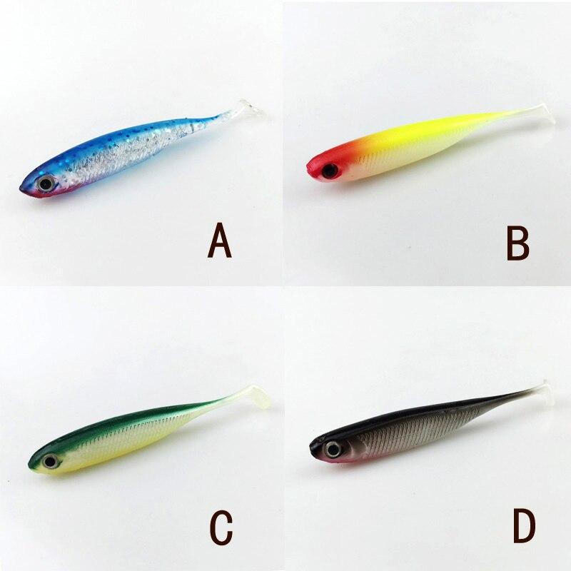 8pcs Jig Head Soft Lure 2.6g 6.8cm Fishing Shad Worm Bait