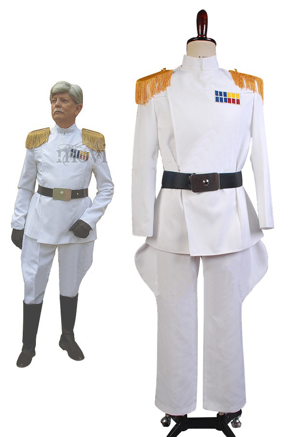 Star Wars Imperial Officer White Grand Admiral Cosplay Costume Uniform Full Sets