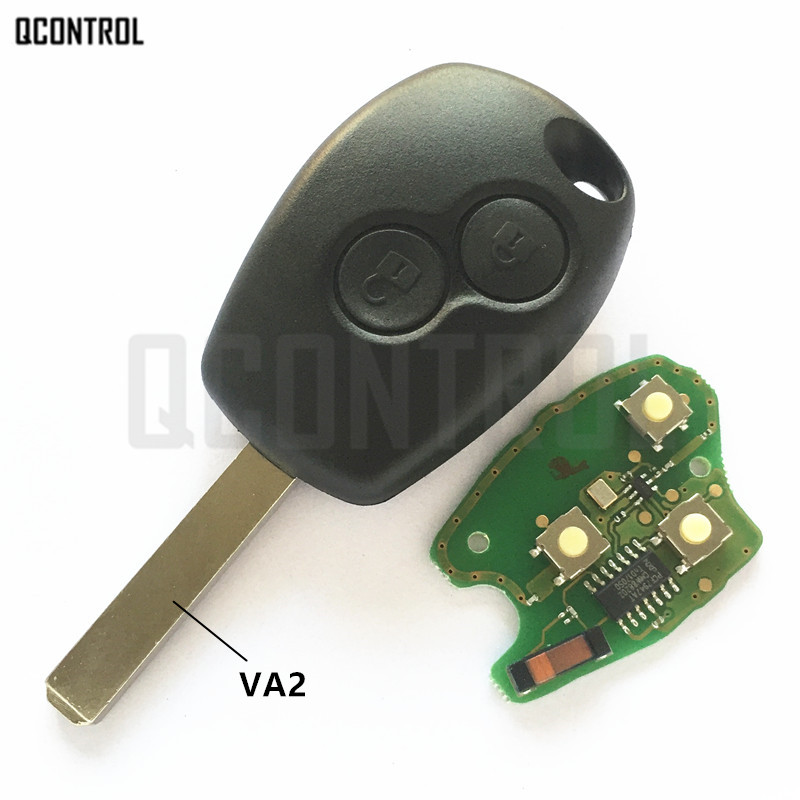 QCONTROL Car Remote Key Suit for Renault Clio Scenic Kangoo Megane PCF7946 / PCF7947 Chip excellent quality 3 button remote card with pcf7947 chip for renault megane clio