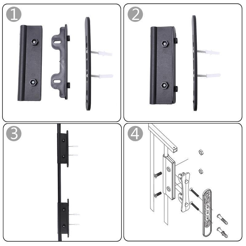 6pcs Steel Fences Fireplace Safety Kids Fence Black