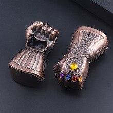 Мода танос перчатка бесконечности рукавица открывалка для бутылок пива брелок Marvel Мстители 3 бесконечные войны 3D кулон брелок ювелирные изделия