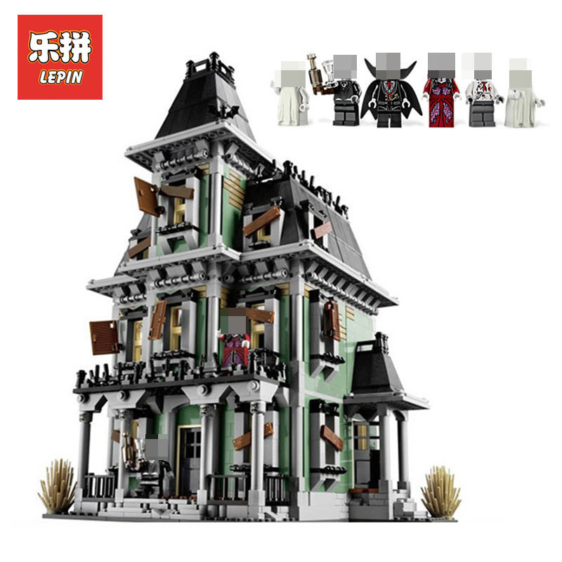 New LEPIN 16007 2141Pcs Monster fighter The haunted house Model set Building Kits Model Compatible With LegoINGlys 10228 Gifts 2141pcs monster fighters haunted house vampyre castle 16007 model building blocks children gifts sets movie compatible with lego