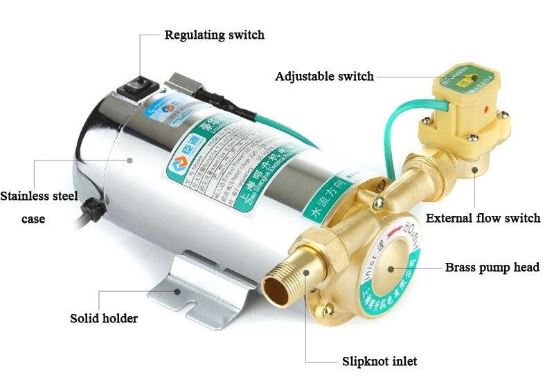220 v ménage automatique chauffe-eau à gaz solaire pompes à eau pompe à pression d'eau 150 w - 4