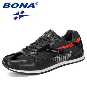 Image 5 - BONA 2019 yeni tasarımcı erkek Sneakers hafif nefes Zapatillas rahat ayakkabılar erkek spor ayakkabı açık Zapatos Hombre