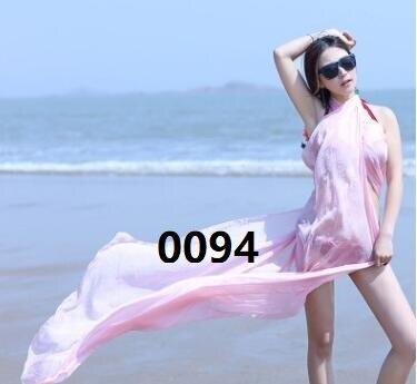 Летние женские солнцезащитный крем шаль сплошной цвет негабаритных шифоновый шарф приморский пляжное полотенце Новый двойного назначения...