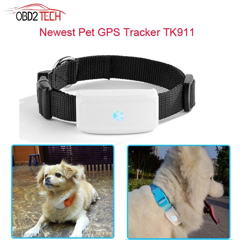 Mini Animal de compagnie chien chat Animal GPS Tracker article tkstar tk911 étanche IP66 soutien GPS WIFI LBS avec plate-forme gratuite