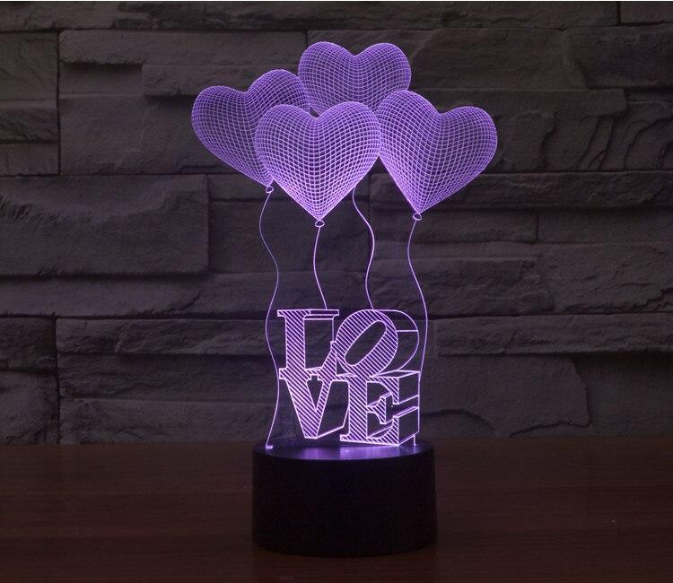 Luzes da Noite luminaria lâmpada atmosfera romântica quarto Formato : Coração