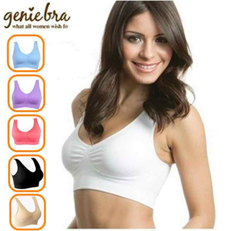 c8dc13fb1ec Detail Feedback Questions about 3pcs/set sexy genie bra With Removable Pads  Seamless push up two layer sleep bra plus size underwear wireless body  shape Bra ...