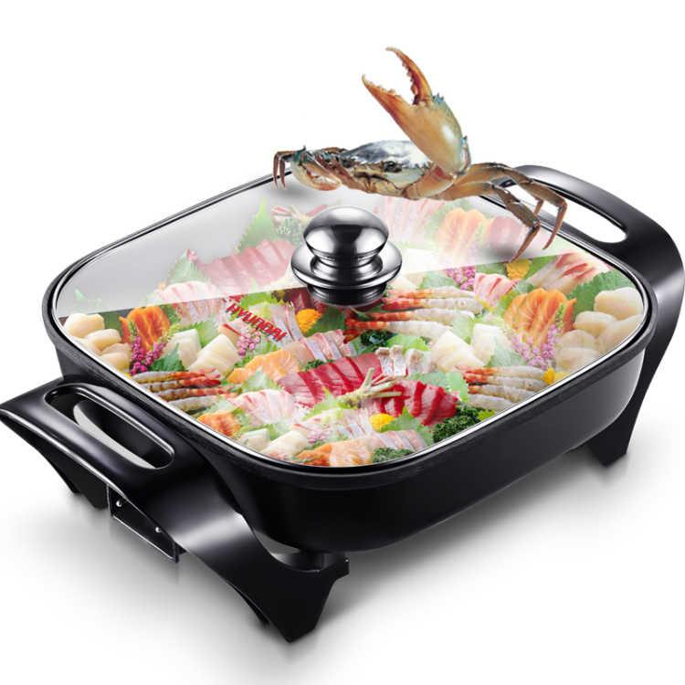 2017 продажа настоящая утварь De Cocina кухонная техника инструменты 4.5l Многофункциональные бытовые электрические корейские квадратный горшок кастрюля для фондю