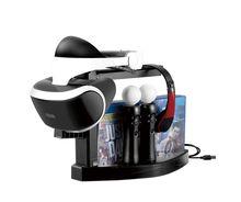 มัลติฟังก์ชั่ชาร์จ Station Dock ขาตั้งจอแสดงผลสำหรับ PlayStation 4/PS4 VR Controller