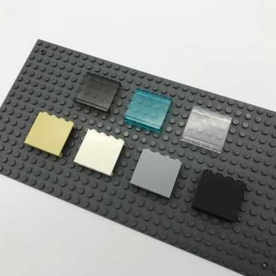 Smartable اطار النافذة شفافة 1x4x3 نافذة عرض اللبنات أجزاء اللعب متوافق legoful 87543 مدينة لعبة 8 قطعة