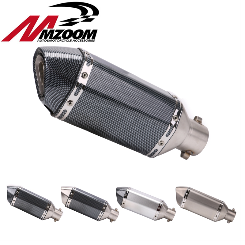 Universal 38-51MM Motorcycle Exhaust Modified Muffle Pipe Slip-on Small Hexagonal Motorbike Exhaust Pipes title=