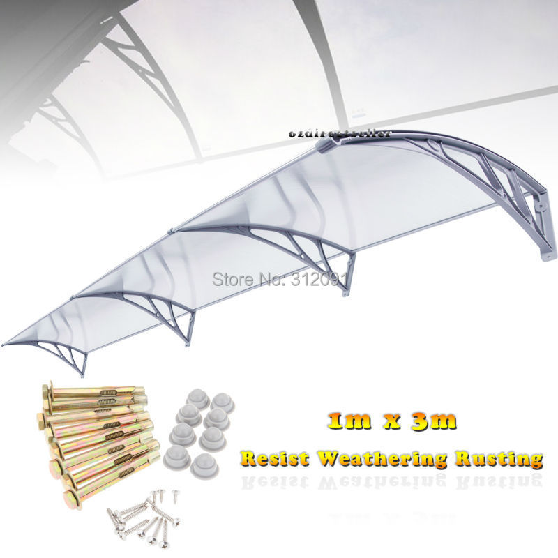 Send From USA- 1m x 3m' DIY Window Awning Patio Cover Sun Shield Door Canopy Patio Outdoor