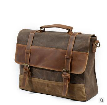 Free Shipping,classic Brand Men Cowhide Handbag.leather Style Briefcase,quality Canvas Bag,vintage Briefcase.sales.gift