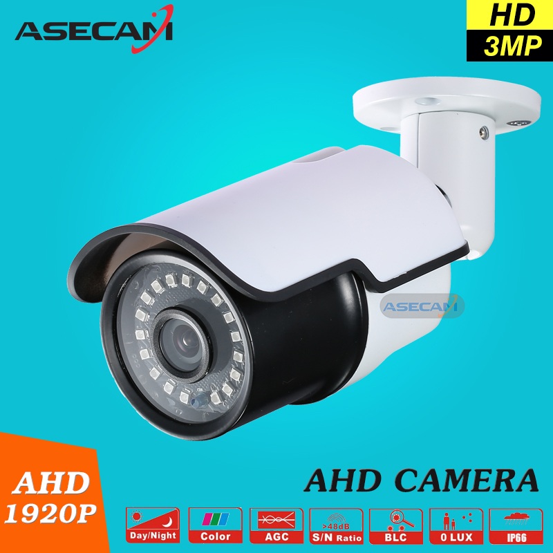 3MP HD Full 1920P Security Camera White Metal Bullet CCTV Day/night AHD Surveillance Camera Waterproof infrared AHDH System new cctv ahd hd 960p surveillance waterproof outdoor metal bullet security camera infrared night vision 50meter