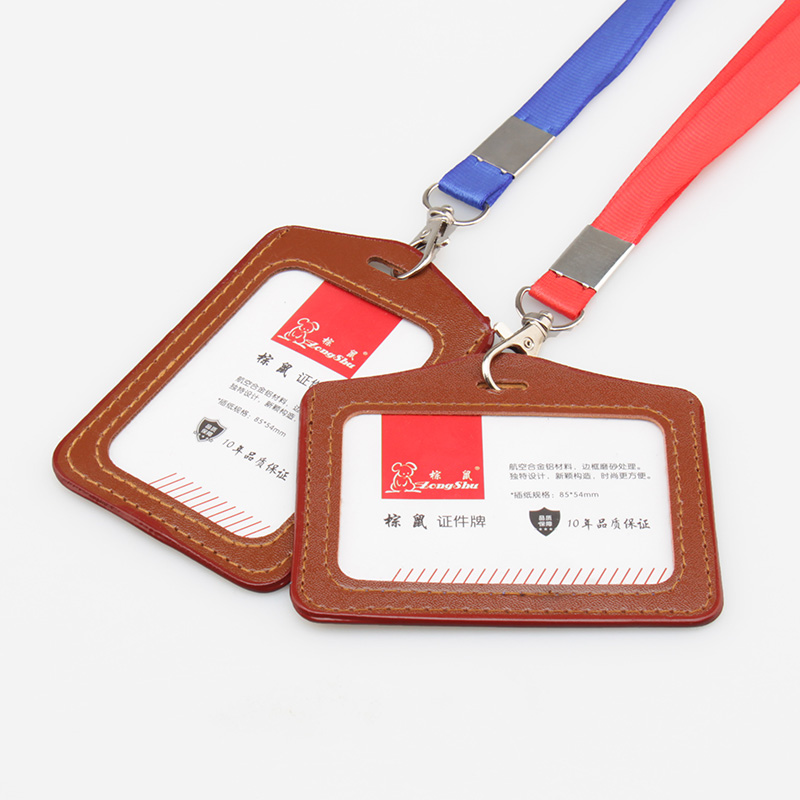 Work Clear Soft Name Credit Card Holders Bank Card Neck Strap Card Bus clerk ID holders Identity badge company office supply