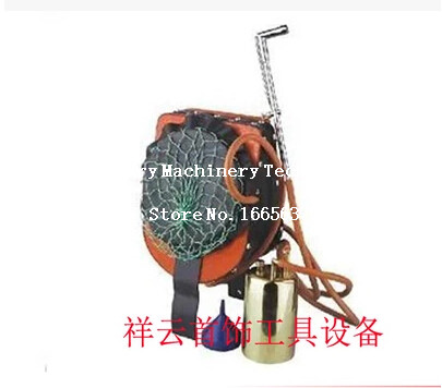 Jewelry Making Tools Leather Air Bellow Sets With One Torch & One Brass Kettle Orifice Jewelry Tools