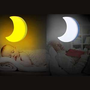 Auto-Light-Sensor Moon-Lamp-Bulb Control Led-Night-Light Eu-Plug Bedside Led Wall Baby Bedroom