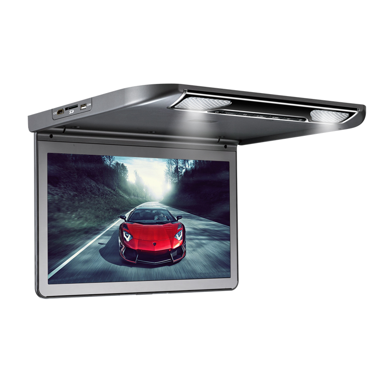 13.3 Inch 12V HD Screen Car TFT Bus Flip Down Overhead Ceiling Roof Mount Monitor Media Player 1080P HDMI MP5 + Optional TV