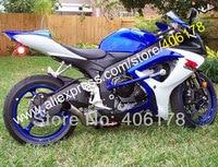 Hot Sales,For SUZUKI GSXR 600 750 2006 2007 GSXR600 GSXR750 K6 06 07 Blue White Black Motorcycle fairing (Injection molding)