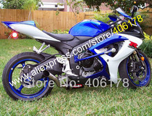 Hot Sales,For SUZUKI GSXR 600 750 2006 2007 GSXR600 GSXR750 K6 06 07 Blue White Black Motorcycle fairing (Injection molding)