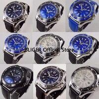 9 Models Sport 44mm BLIGER Big Face Men's Wrist Watch Ceramic Bezel Luminous Marks Automatic Movement Watch